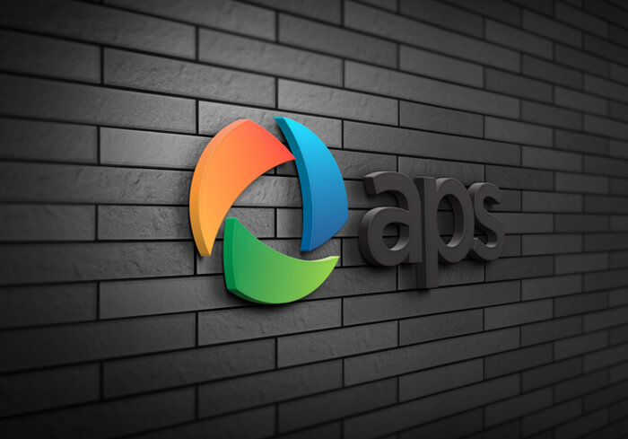 Wall logo mockup free psd template download
