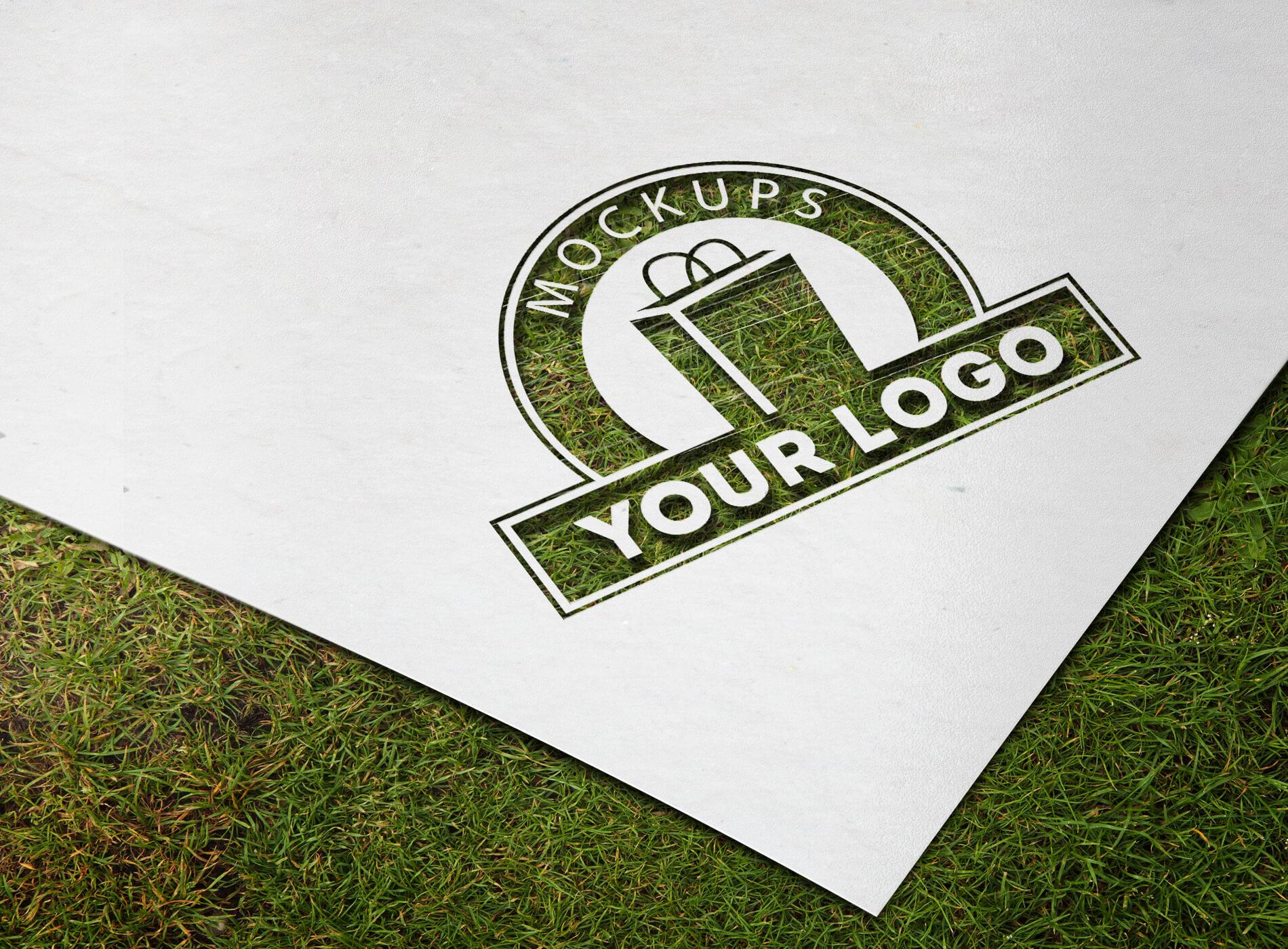 Paper Cutout Logo Mockup