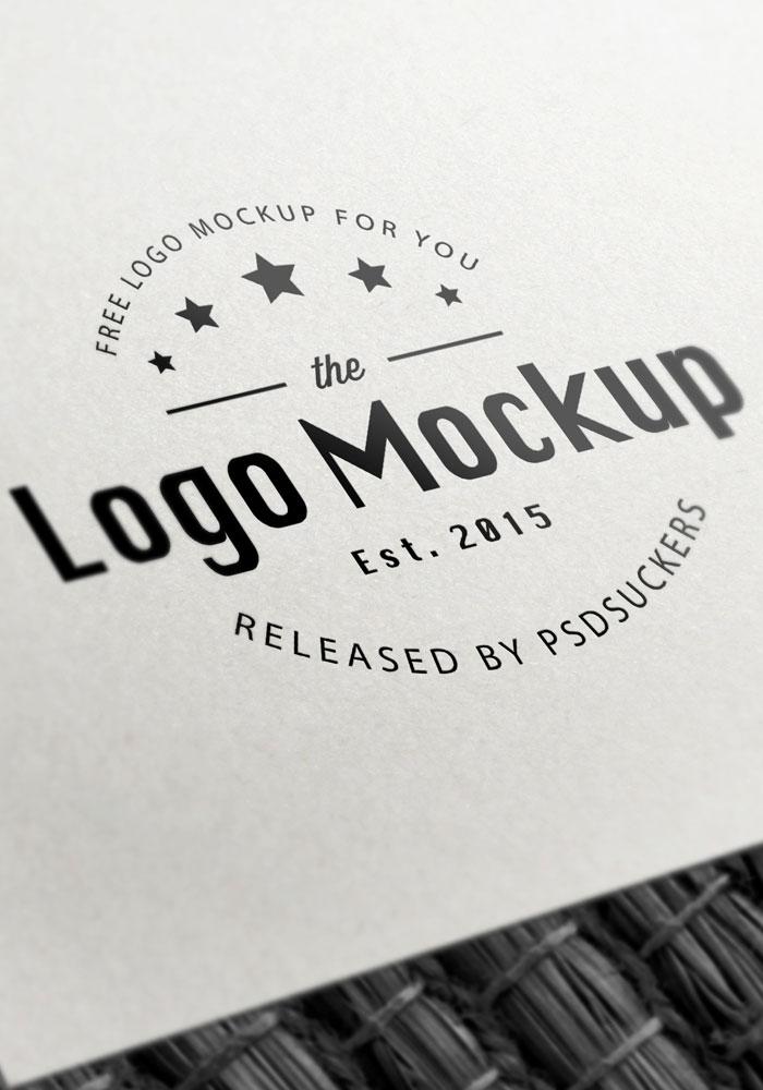 b u0026w paper logo mockup