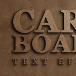 Cardboard text effect psd download