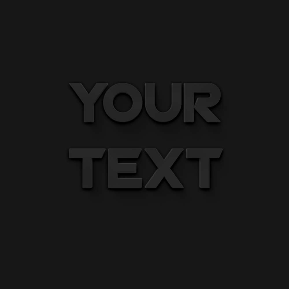 Soft Gray Text Effect Free PSD Download