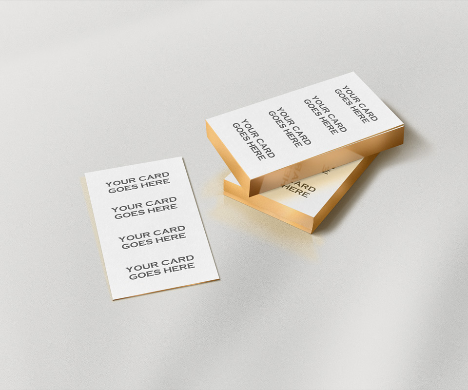 Gold edge business card mockup colourmoves