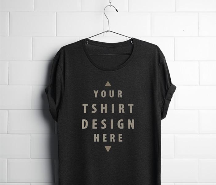 Free black t shirt mockup psd for Free tshirt mockup psd