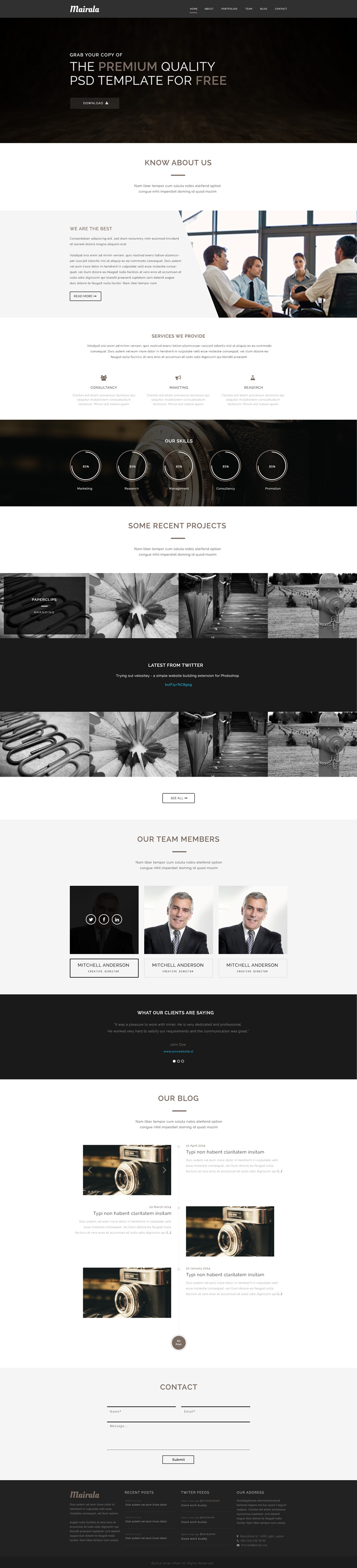 corporate one page website template. Black Bedroom Furniture Sets. Home Design Ideas