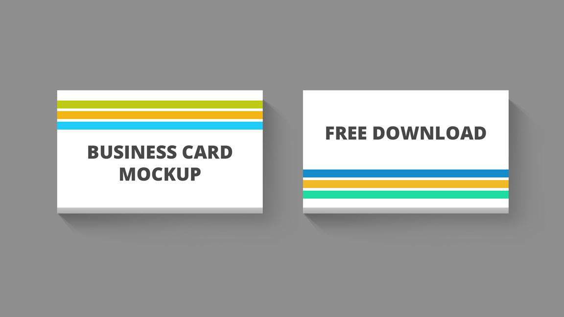 Clean business card mockup template free business card mockup psd reheart Image collections