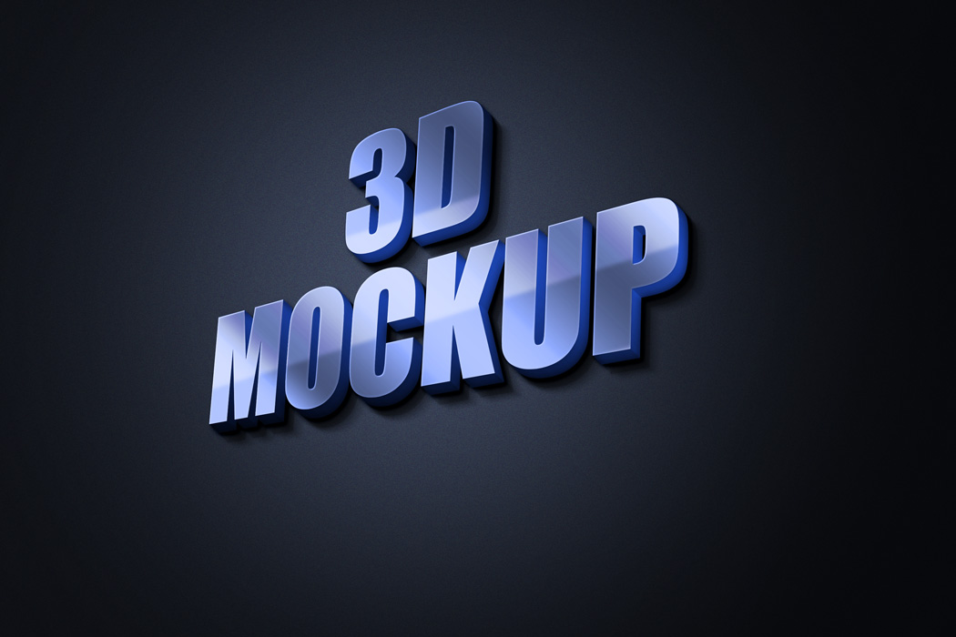 free 3d logo mockup text effect