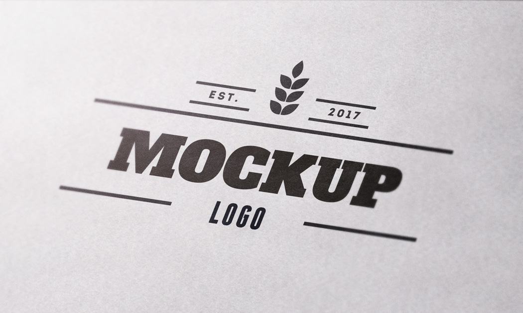 close up paper free logo mockup