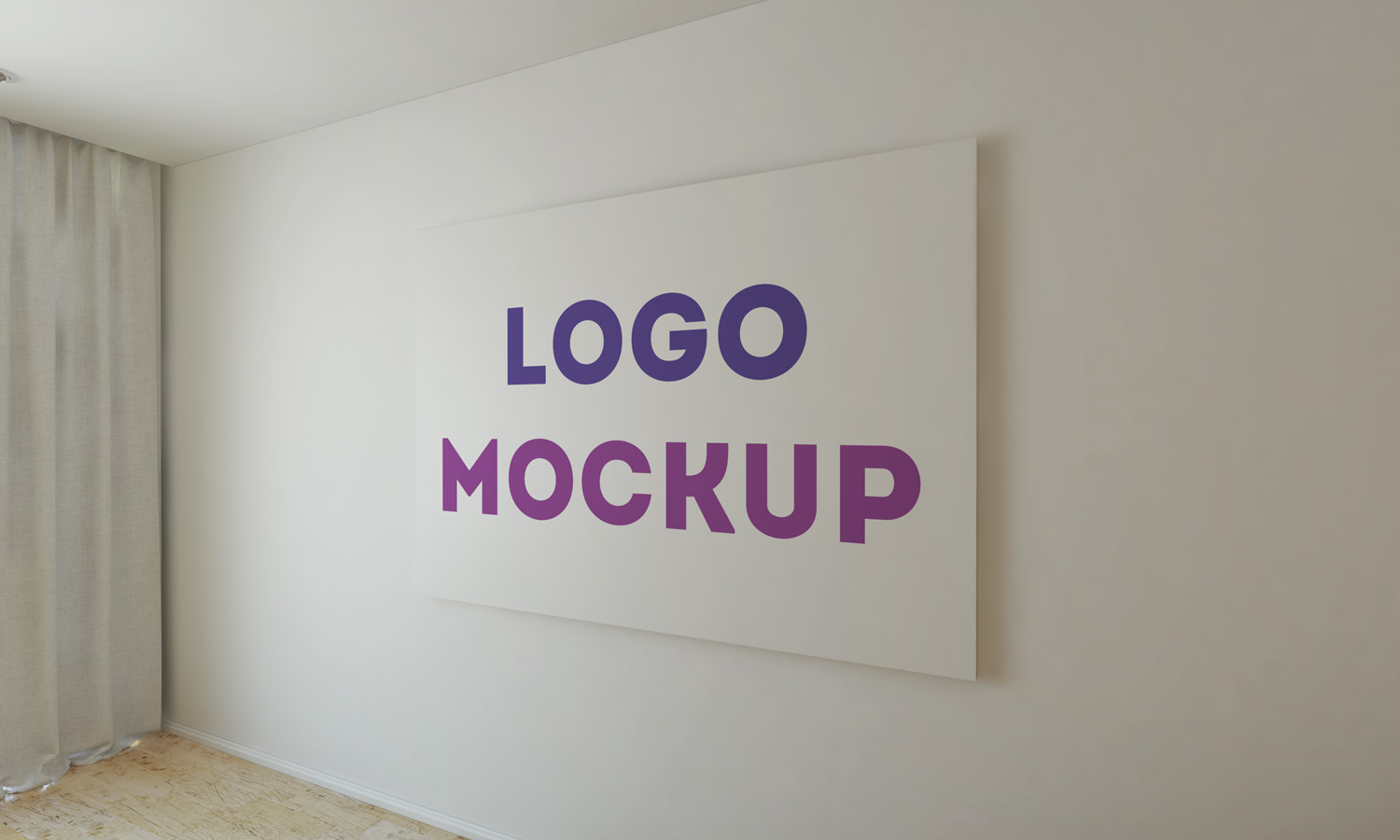 Office Wall Logo MockUp Vol 2