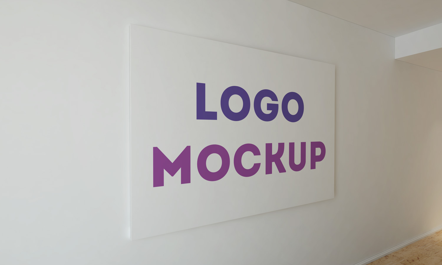 Office Wall Free Logo Mockup