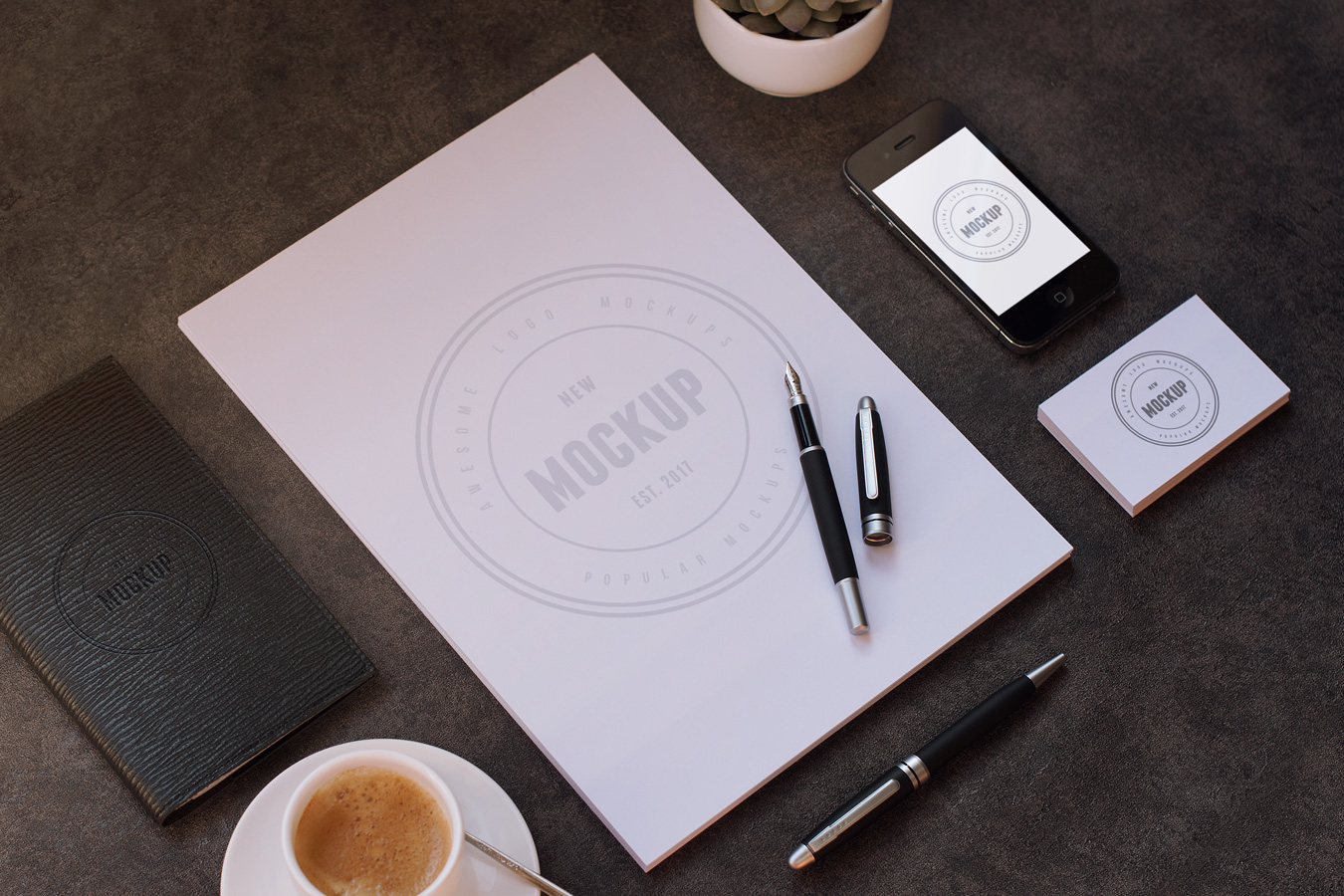 Free Stationary Set Branding MockUp