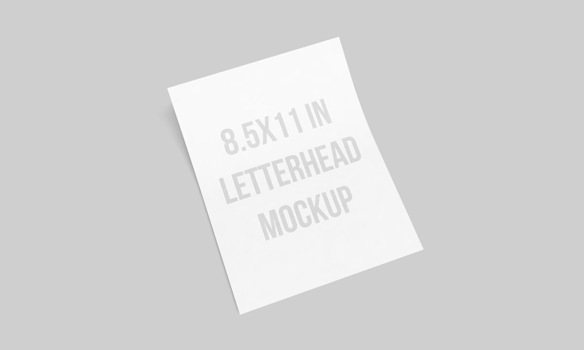 us letterhead mockup 8 5 x 11 inches