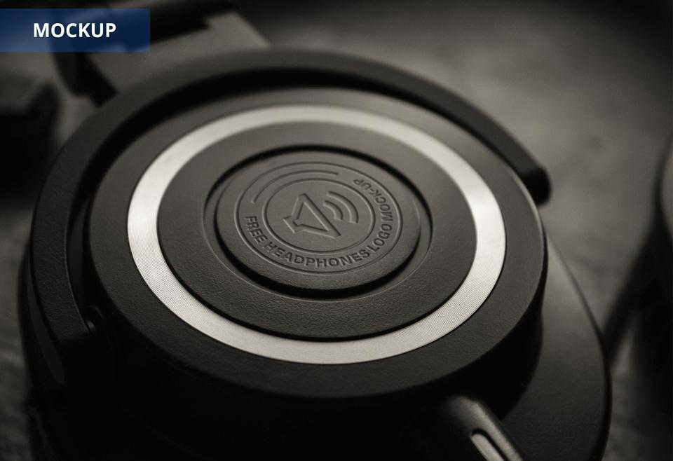 headphone logo mockup